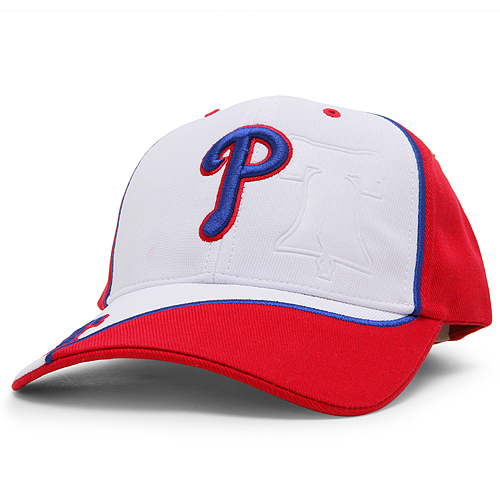 Philadelphia Phillies '47 Partition MVP Adjustable Hat - White/Red - OSFA
