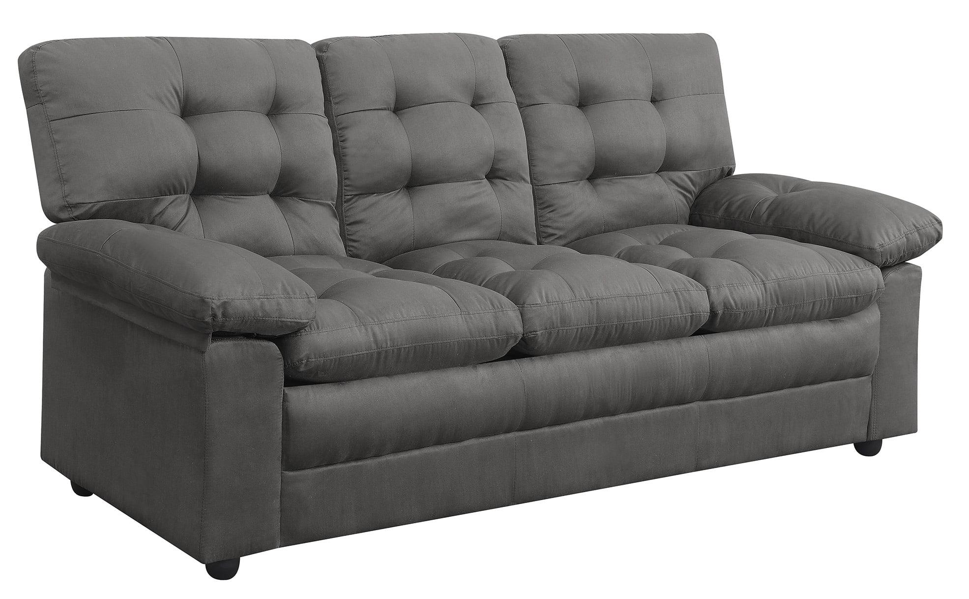 Mainstays Buchannan Sofa Grey Microfiber Walmart