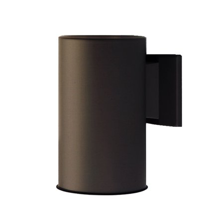 NICOR Lighting 7-Inch Outdoor Cylinder Wall Sconce Down Light, Architectural Bronze (50101BA)