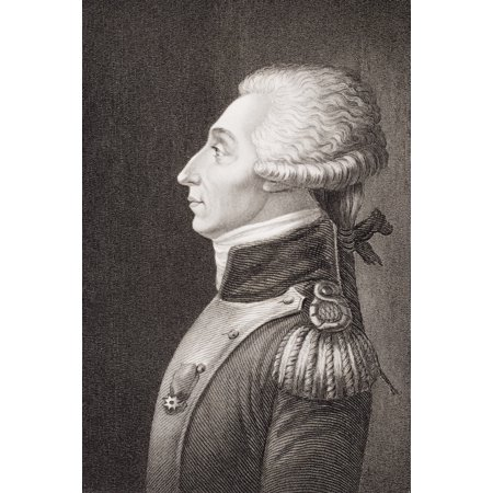 Marie Joseph Paul Yves Roch Gilbert Du Motier Marquis De Lafayette 1757-1834 French Solider Who Fought Wiith Americans In American Revolution As Commander Of The Parisian National Guard In 1789