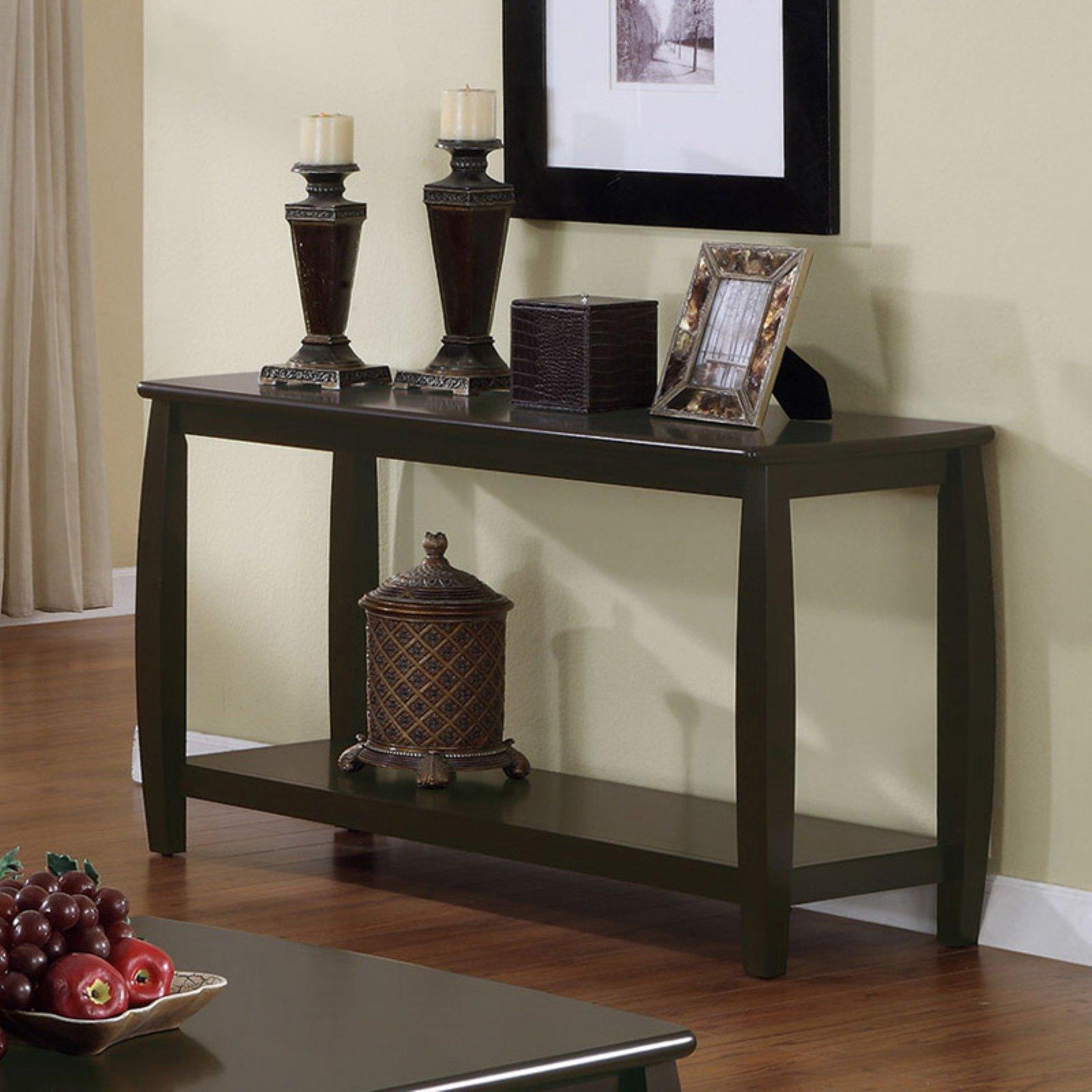Coaster Furniture Wood Sofa Table - Cappuccino
