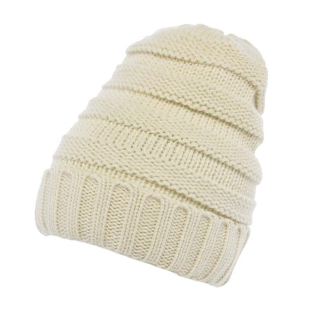 DG Hill Winter Hat For Women Slouchy Beanie Hat Chunky Knit Stocking Cap Soft Warm Cute - Ladies Knitted Mesh Hat