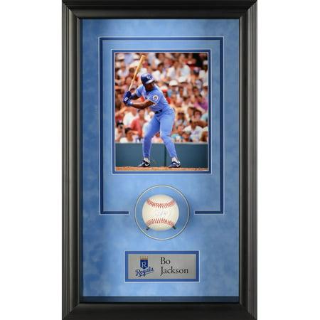 Bo Jackson Kansas City Royals Framed Autographed Baseball Shadowbox - Fanatics Authentic Certified