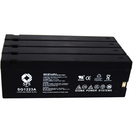 SPS Brand  12V 2.3 Ah (Terminal A)  Replacement for  Panasonic Camcorders AG-196 (Camcorder Battery) ( 4 (Gs280 Camcorder Battery)