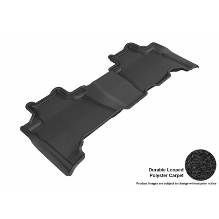 3D Maxpider 2010 2015 Lexus Gx460 Second Row All Weather Floor Liner In Black Carpet