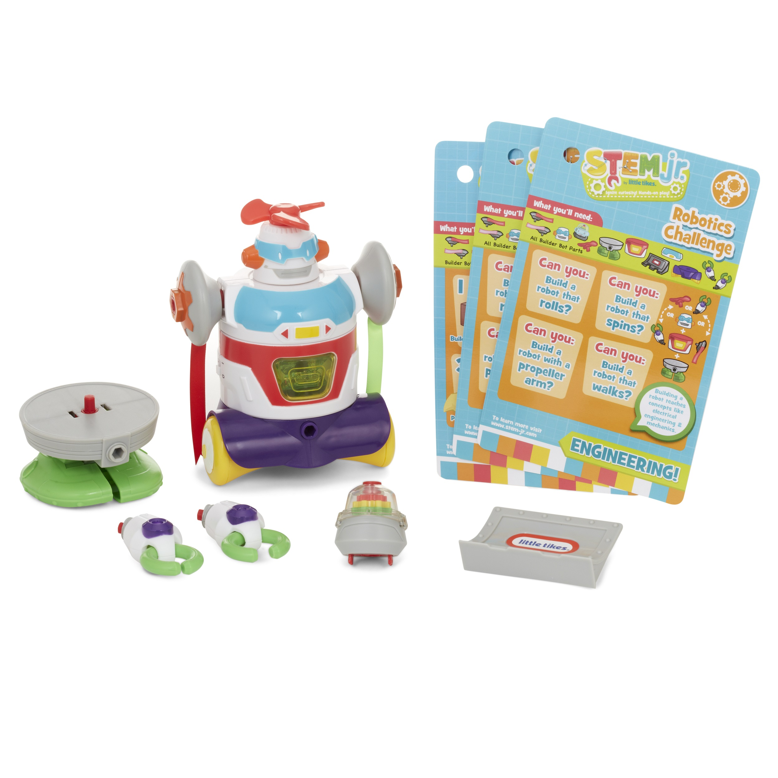 Little Tikes Stem Jr. Builder Bot with 4- Hands on Experiments