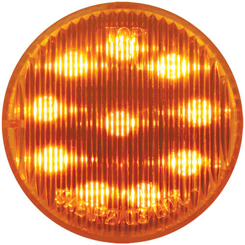 """Grand General Amber 2"""" Round 10 LED Marker and Clearance Sealed Light"""