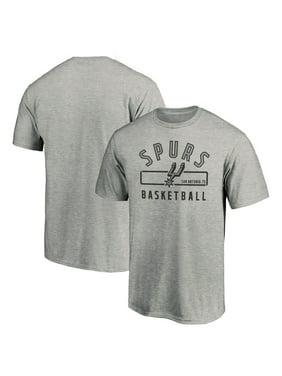 Men's Fanatics Branded Gray San Antonio Spurs Large Logo Arc T-Shirt