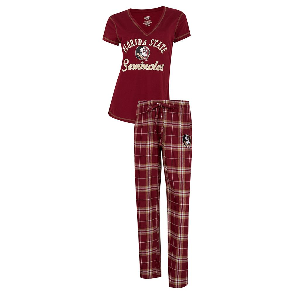 FSU Florida State University Women's Pajama Set Duo Sleep Set