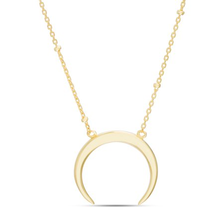 Womens Polished Goldtone Horn Necklace