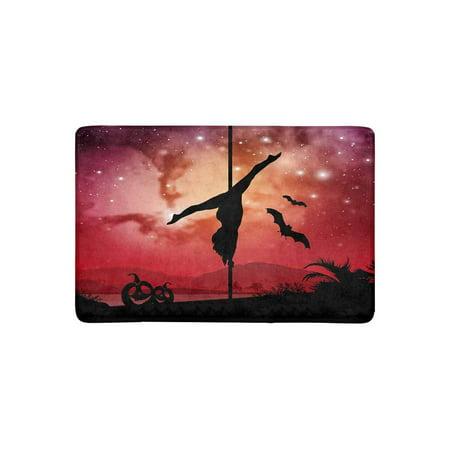 MKHERT Pole Dancer in Galaxy Space Background with Halloween Elements Doormat Rug Home Decor Floor Mat Bath Mat 23.6x15.7 inch - 100 Floors Halloween 34
