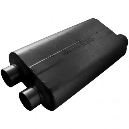 Flowmaster 530513 50 Big Block Muffler - 3.00 Dual In / 3.50 Offset Out - Mild Sound