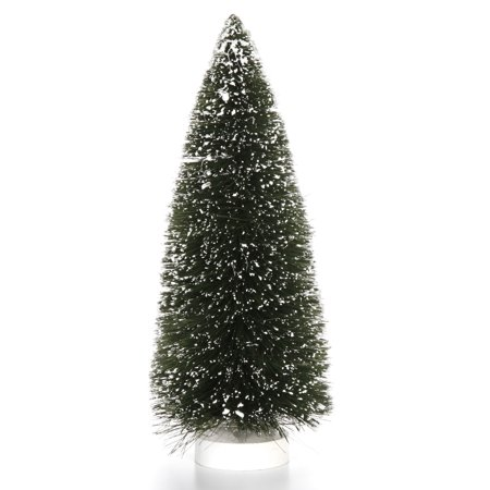 Bottle Brush Christmas Trees: 12 inch Green Sisal Tree with Snow - Bottle Brush Christmas Trees