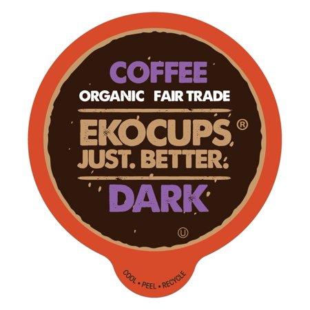 - Ekocups Artisan Organic Dark Coffee Single Serve Cups, 40 Count