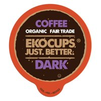 Ekocups Artisan Organic Dark Strong Coffee Single Serve Cups, 40 Count