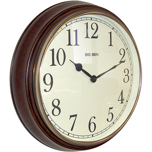 "Big Ben 15.5"" Round Wall Clock 73004P"