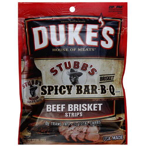Duke's House Of Meats Spicy Bar-B-Q Beef Brisket Jerky Strips, 3 oz  (Pack of 8)