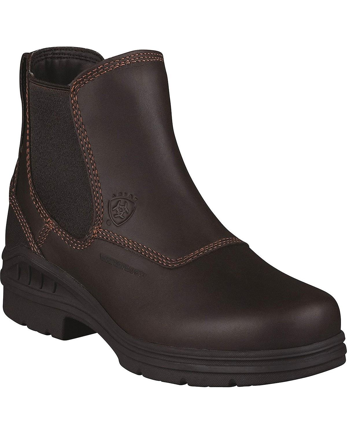 "Ariat 10003574 Barnyard Twin Gore H2O 6"" Slip On Riding Boots Waterproof by Ariat"