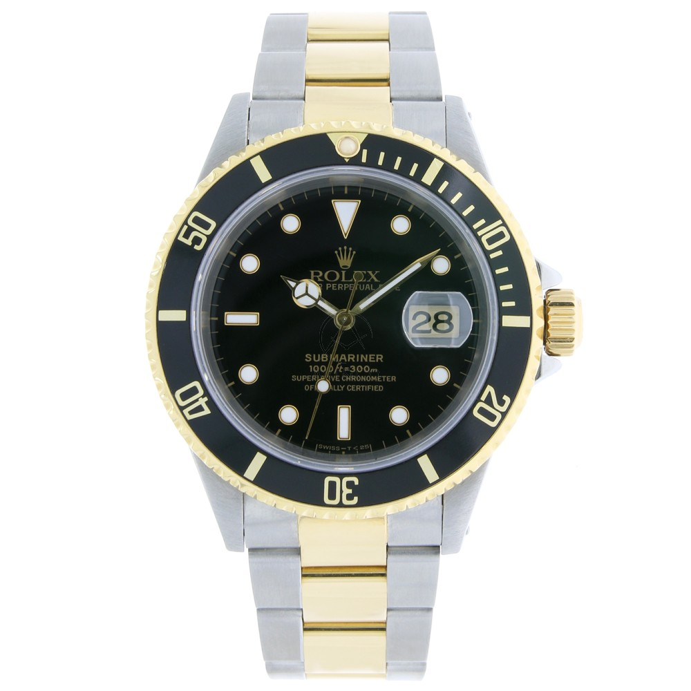Pre-Owned Rolex Submariner Stainless Steel Yellow Gold Wa...