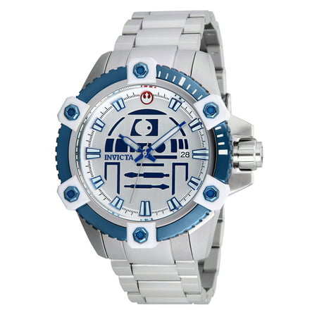 Men's 26556 Star Wars Automatic 3 Hand Silver, Blue Dial Watch - Mens Star Wars Watch