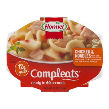 - Hormel, Compleats, Chicken & Noodles Made With White Chicken