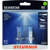 SYLVANIA H1 SilverStar High Performance Halogen Headlight Bulb, (Pack of 2)