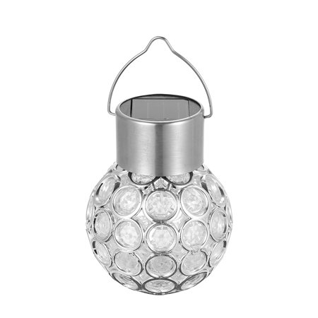 Solar Powered Energy LED Outdoor Lamp Manual & Light 2 Control Modes Rechargeable Hollow-out Spherical Design IP65 Water Resistance for Garden Yard Path Decoration