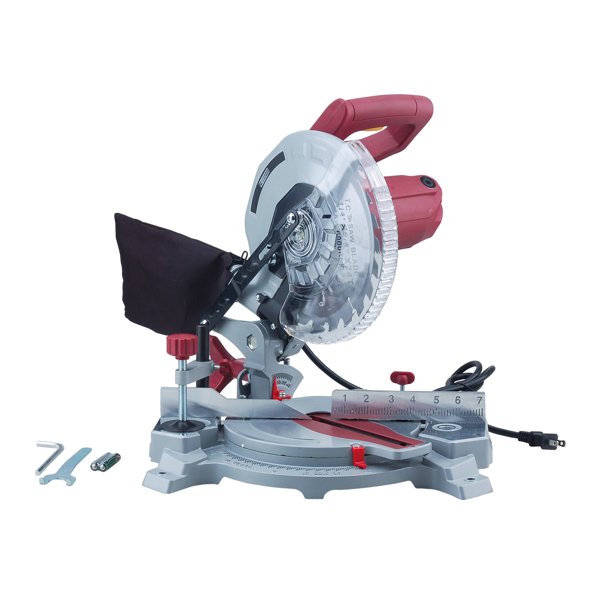 "Professional Woodworker 8 1 4"" Compound Miter Saw with Laser Guide by NATI LLC"