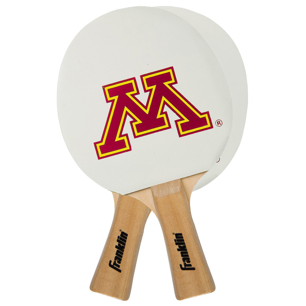 Franklin Sports FRA-15621F-32 Minnesota Golden Gophers Ncaa Tennis Paddle (2 Paddles)