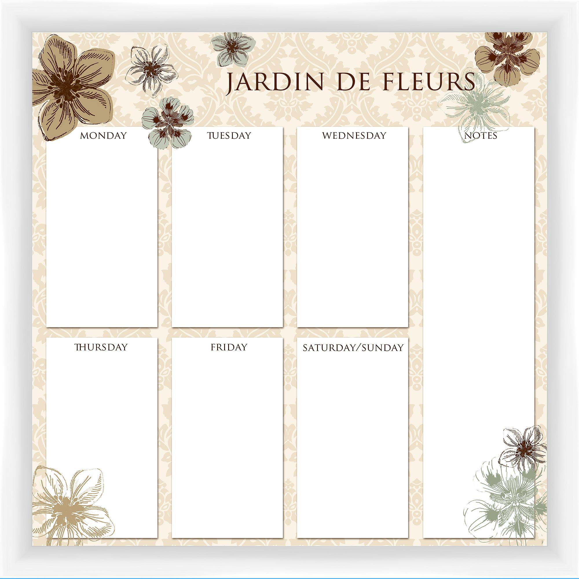 Jardin De Fleurs White Memoboard