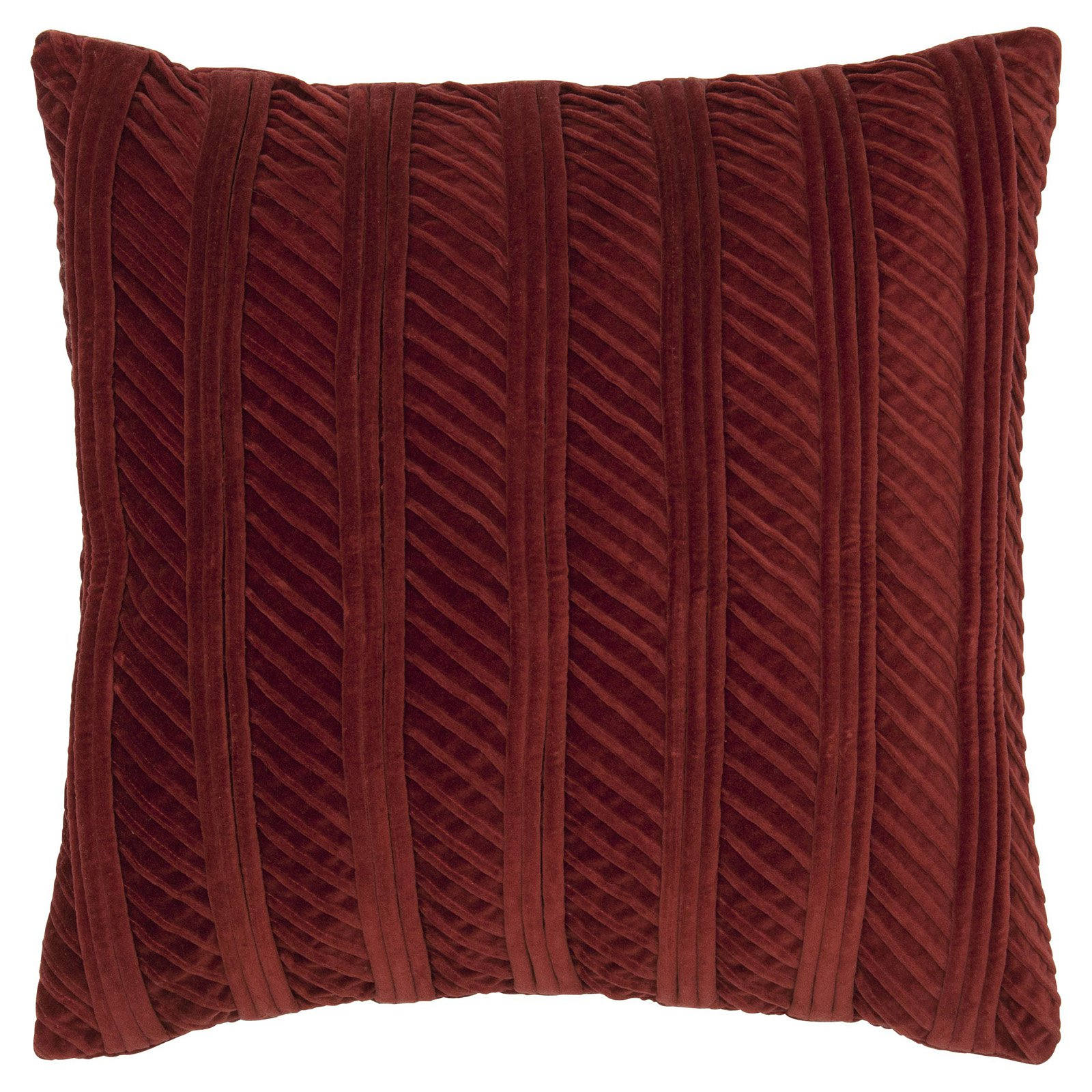 Rizzy Home Cotton Velvet Corded Decorative Throw Pillow