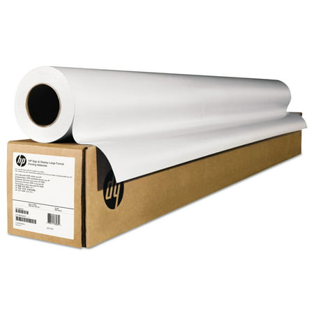 "HP Wide-Format Matte Canvas Paper Roll, 24"" x 50 ft, 16 mil, White"