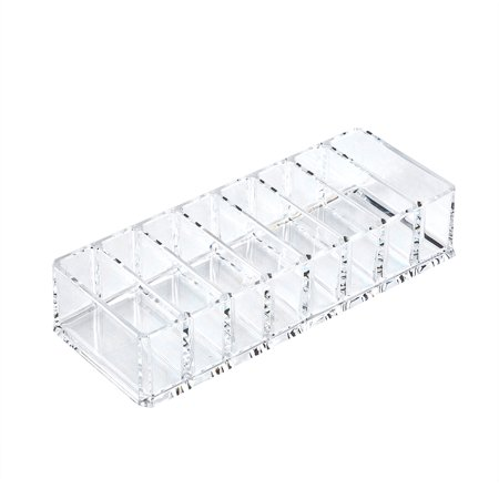 Ejoyous 8 Grid Transparent Acrylic Larger Compact Organizer Power Eyebrow Powder Holder Store Box , Larger Compact Organizer, Powder Holder - image 2 of 6