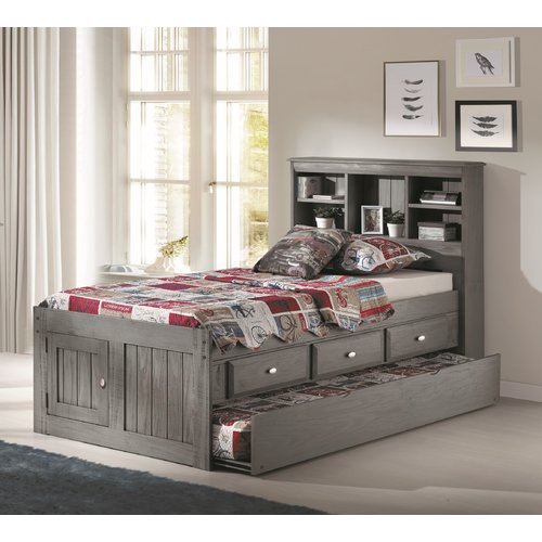 Harriet Bee Guy Twin Mate's & Captain's Bed with Drawers and Trundle