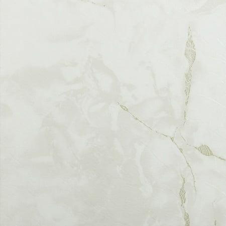 Achim Nexus Classic White with Grey Veins 12x12 Self Adhesive Vinyl Fl