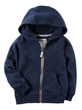 f96f83ff Product Image Carter's Boys Brushed Fleece Zip-Up Hoodie, Navy - 24 Months