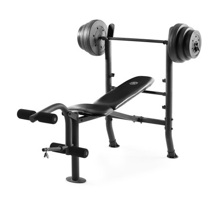 Golds Gym XR 8.1 Combo Weight Bench with 100 Lb. Vinyl Weight