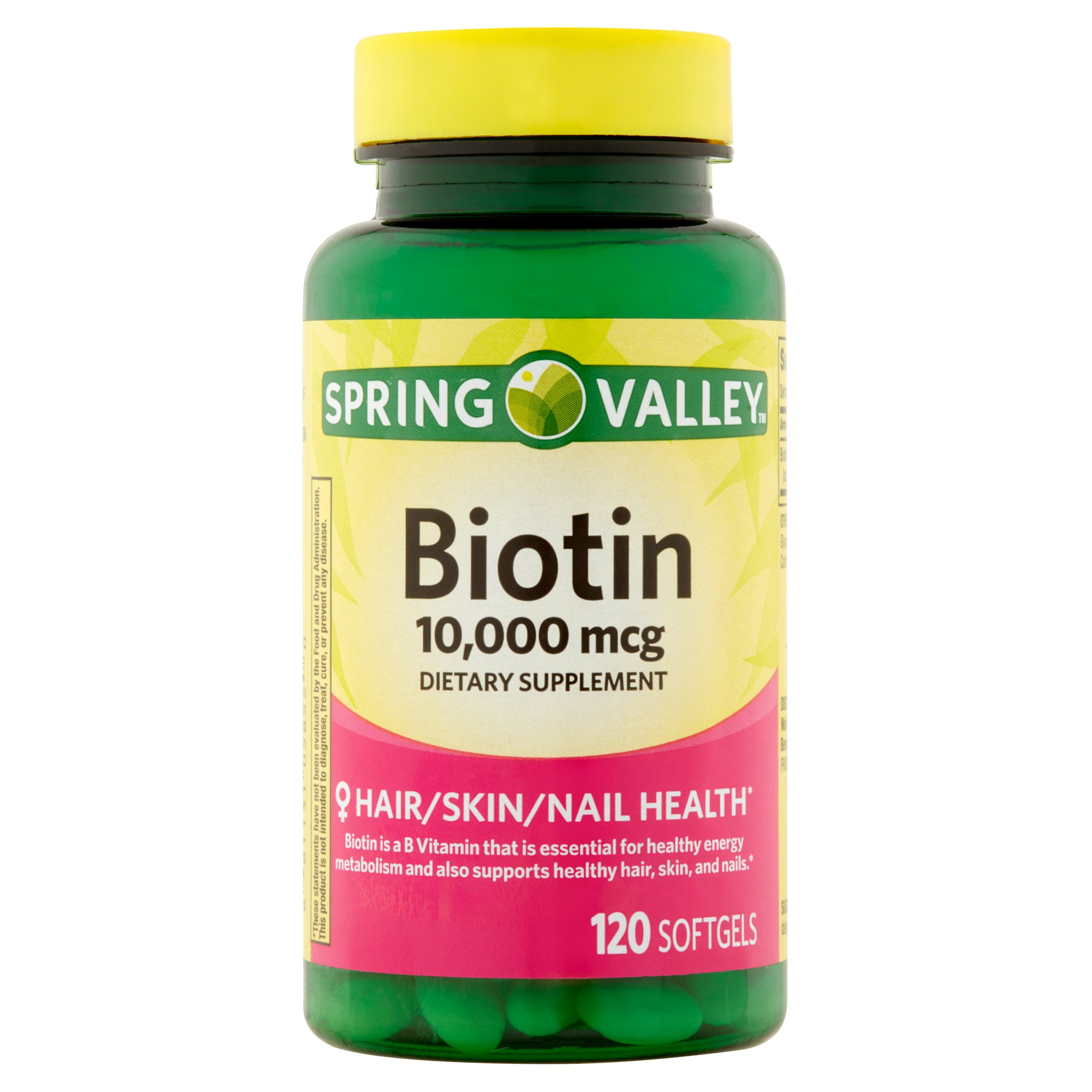 Spring Valley Biotin Softgels, 10000 mcg, 120 Ct