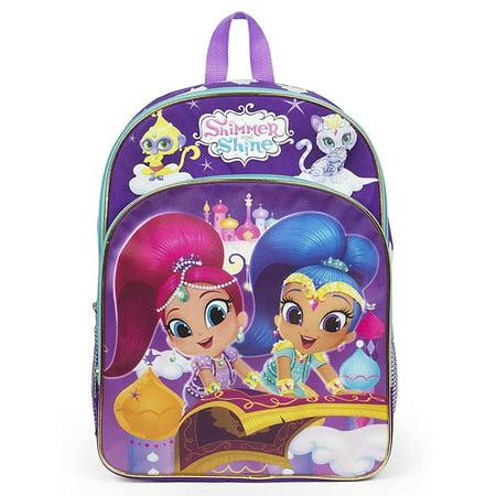 Nickelodeon Shimmer and Shine Carpet Ride Molded EVA 16 Backpack School Bag, Molded 3D backpack