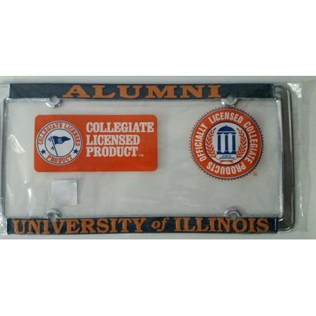University of Illinois Fighting Illini Alumni Metal License Plate Frame - Officially Licensed Chrome Marquette University Alumni
