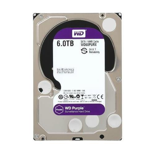 Western Digital Purple WD60PURX 3.5 6TB IntelliPower SATA3 SATA 6.0 GB s 64MB Hard Drive (Western... by WD