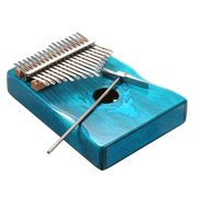 17 Keys Kalimba Elk Thumb Piano with Hammer Portable Musical Instrument Dreamy Elk Blue Color