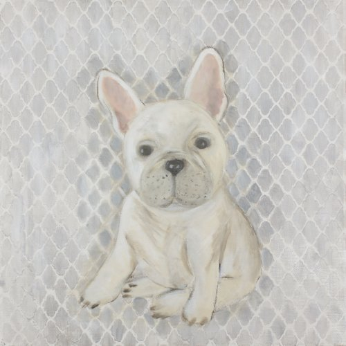 Judith Raye Paintings LLC Frenchy the French Bull Dog Giclee Framed Painting Print on Wrapped Canvas