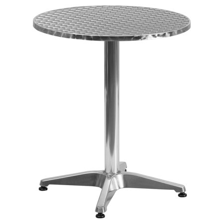 Flash Furniture 23.5'' Round Aluminum Indoor-Outdoor Table with (Aluminum Table)