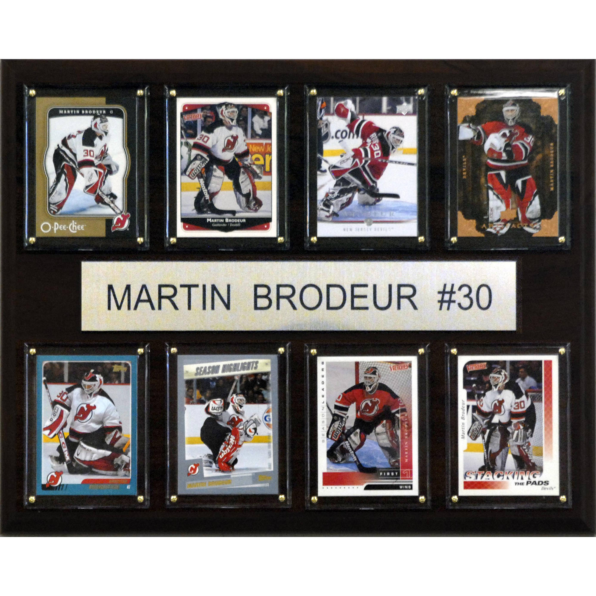 C&I Collectables NHL 12x15 Martin Brodeur New Jersey Devils 8-Card Plaque