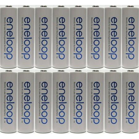 Newest Version Panasonic Eneloop 16 Pack AA NiMH Pre-Charged Rechargeable Batteries -FREE BATTERY HOLDER- Rechargeable 2100 - Sanyo Eneloop Nickel Metal