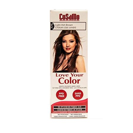 CoSaMo - Love Your Color Non-Permanent Hair Color 775 Light Ash Brown - 3 oz. + Schick Slim Twin ST for Dry Skin](St Pattys Day Hair)