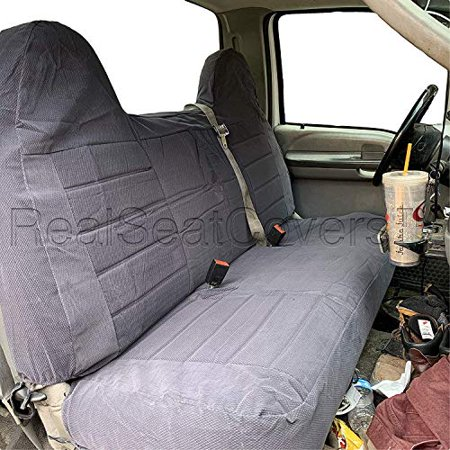 Pleasing Seatcovers For F23 Ford F150 F250 F350 F450 F550 1992 2010 Full Size Bench Seatcover Molded Headrest Fitted Dark Gray Gmtry Best Dining Table And Chair Ideas Images Gmtryco