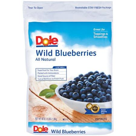 Dole Wild Blueberries, 3 lbs