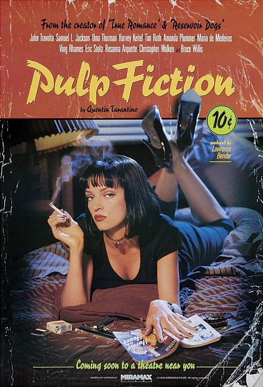 Pulp Fiction Mia at The Dinner Table Wall Poster Prints Room Decor Film Pictures